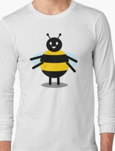 funny friendly bumble bee Long Sleeve T-Shirt