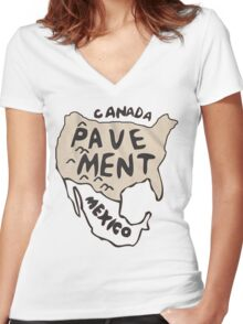 Pavement North America Indi grunge band mens ladies Women's Fitted V-Neck T-Shirt