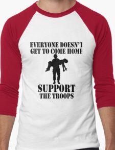 Everyone Doesn't Get To Come Home (Black print) Men's Baseball ¾ T-Shirt