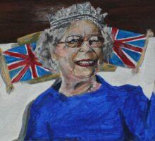 Queenie Flippin' The Bird Sticker