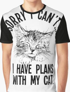 funny t-shirt Cats, I have plans with my cat Graphic T-Shirt