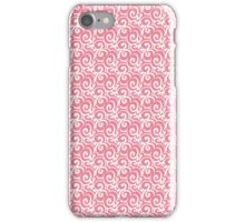 Pink and White Swirls and Flourishes  iPhone Case/Skin