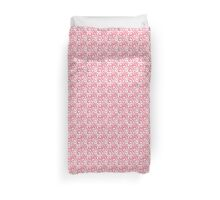 Pink and White Swirls and Flourishes  Duvet Cover