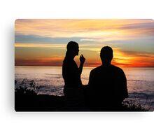 Conversation At Sunset Canvas Print