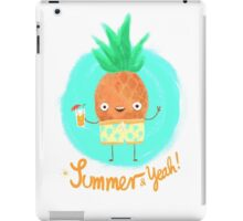 Summer & Yeah (Pineapple) iPad Case/Skin