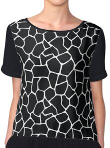 Black and White Giraffe Chiffon Top