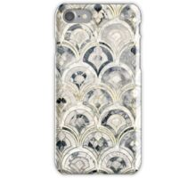 Monochrome Art Deco Marble Tiles iPhone Case/Skin