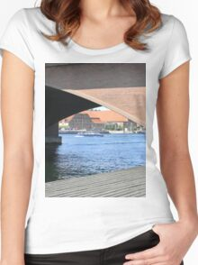 View from Under the Bridge Women's Fitted Scoop T-Shirt