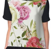 Bouquet of peony and chinese rose. Chiffon Top