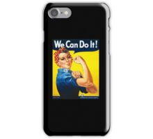 WE CAN DO IT, Rosie the Riveter, Howard Miller, American, wartime, propaganda, poster iPhone Case/Skin