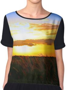 Day's End Chiffon Top