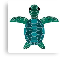 Sea Turtle Logo Lined Canvas Print
