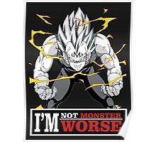 Vegeta monster Poster