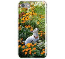 Girl playing with a dog  iPhone Case/Skin