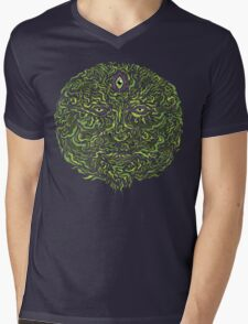 Wise Green Puer Mens V-Neck T-Shirt