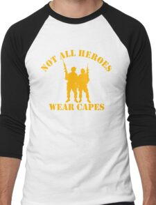 Not All Heroes Wear Capes (Gold print) Men's Baseball ¾ T-Shirt