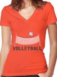 TEAM VOLLEYBALL Women's Fitted V-Neck T-Shirt