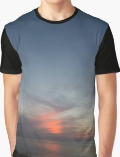 Sunset at sea with moon Graphic T-Shirt