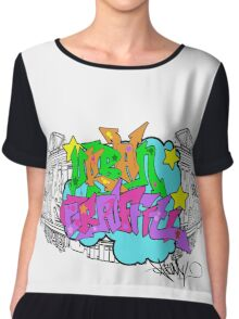 Urban Graffiti Chiffon Top