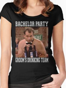 Groom's Drinking Team-Stag Party / Bachelor Party Women's Fitted Scoop T-Shirt