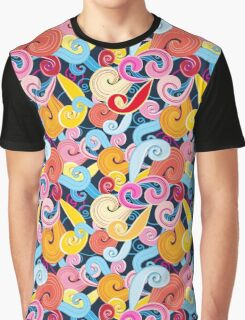 Seamless graphic pattern of waves Graphic T-Shirt