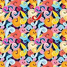 Seamless graphic pattern of waves by Tanor