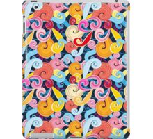 Seamless graphic pattern of waves iPad Case/Skin