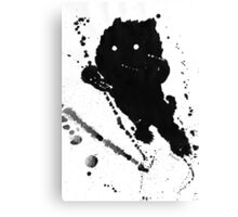 Jumping Leaping Black Puppy Dog Kitten Cat Canvas Print