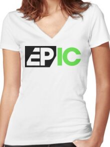 EPIC Eric Prydz Radioshow Women's Fitted V-Neck T-Shirt
