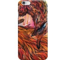Hand drawn fox in Watercolor iPhone Case/Skin