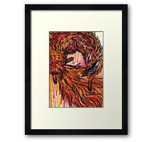 Hand drawn fox in Watercolor Framed Print