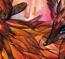 Hand drawn fox in Watercolor Sticker