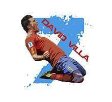 David Villa Celebration  Photographic Print