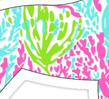 Retriever Sticker Lilly Pulitzer Inspired Print Vinyl Decal Sticker