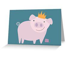 König der Schweine Greeting Card