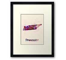 Tennessee US state in watercolor Framed Print