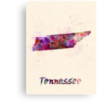 Tennessee US state in watercolor Canvas Print