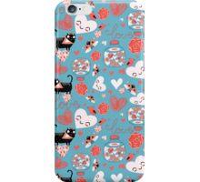 pattern of cat lovers heart iPhone Case/Skin