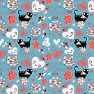 pattern of cat lovers heart by Tanor