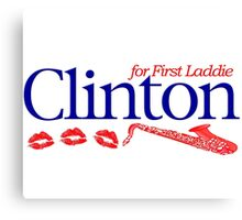 Clinton for First Laddie Canvas Print