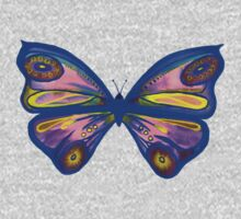 Watercolur Butterfly 1 (blue) Baby Tee