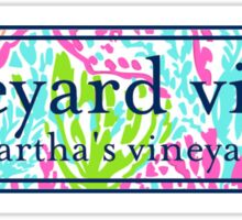 Martha's Vineyard Logo Lilly Pulitzer Inspired Print Vinyl Decal Sticker
