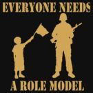 Everyone Needs A Role Model (Gold print) by pixhunter