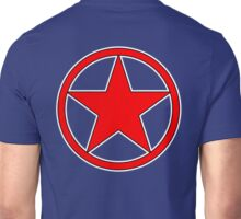 RED, STAR, CIRCLE, BADGE, Stardom, Power to the people! Red Dwarf, Stellar, Cosmic Unisex T-Shirt