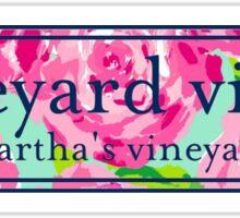 Martha's Vineyard Logo Lilly Pulitzer Inspired Print Vinyl Decal Sticker