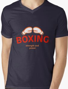 TEAM BOXING Mens V-Neck T-Shirt