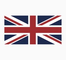 Union Jack, British Flag, UK, United Kingdom, Pure & simple 1:2 Kids Tee