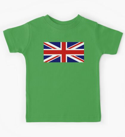 Union Jack, British Flag, UK, United Kingdom, Pure & simple, 1:2 Kids Tee