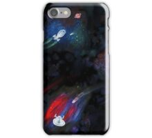 Painted starships Collage iPhone Case/Skin