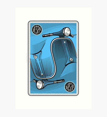 Two-in-One Vespa Art Print